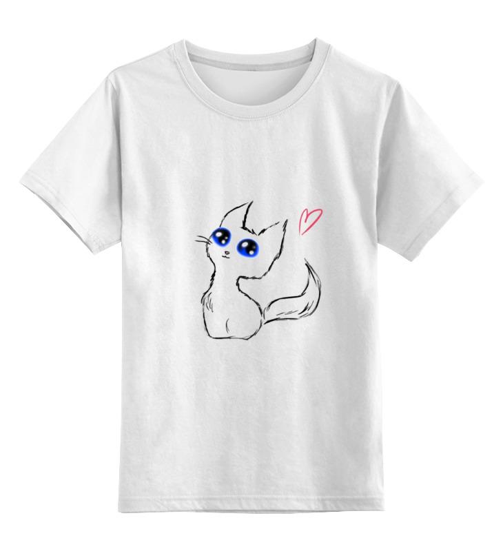 Детская футболка классическая унисекс Printio Котейка) детская футболка классическая унисекс printio красота смертельна