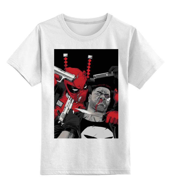Фото - Детская футболка классическая унисекс Printio Deadpool vs punisher майка классическая printio deadpool vs punisher