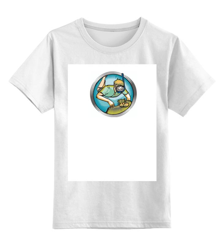 Детская футболка классическая унисекс Printio Пдводное плавание