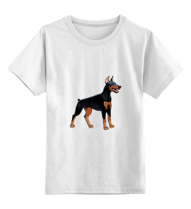 Детская футболка классическая унисекс Printio Доберман