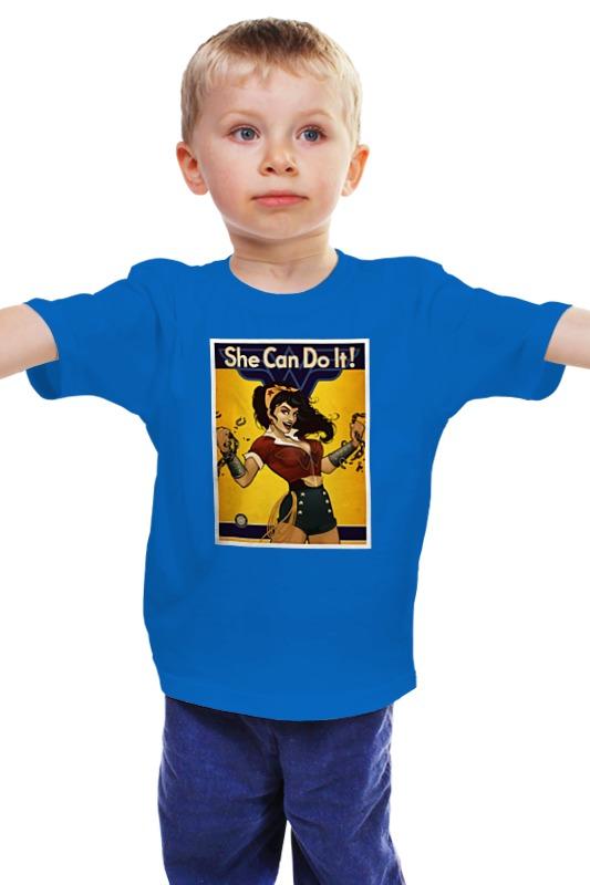 Детская футболка классическая унисекс Printio She can do it! they do it with mirrors
