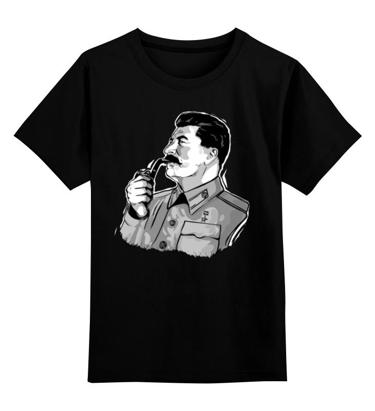 Детская футболка классическая унисекс Printio Сталин сумка printio wonkers the watilla