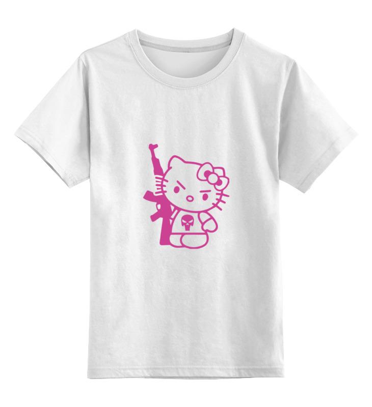 цена на Детская футболка классическая унисекс Printio Hello kitty ak-47