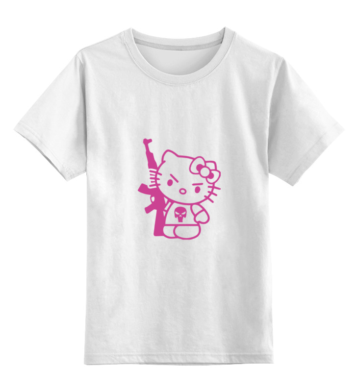 Детская футболка классическая унисекс Printio Hello kitty ak-47 детская плюшевая игрушка hello kitty 7 kt kphk0016