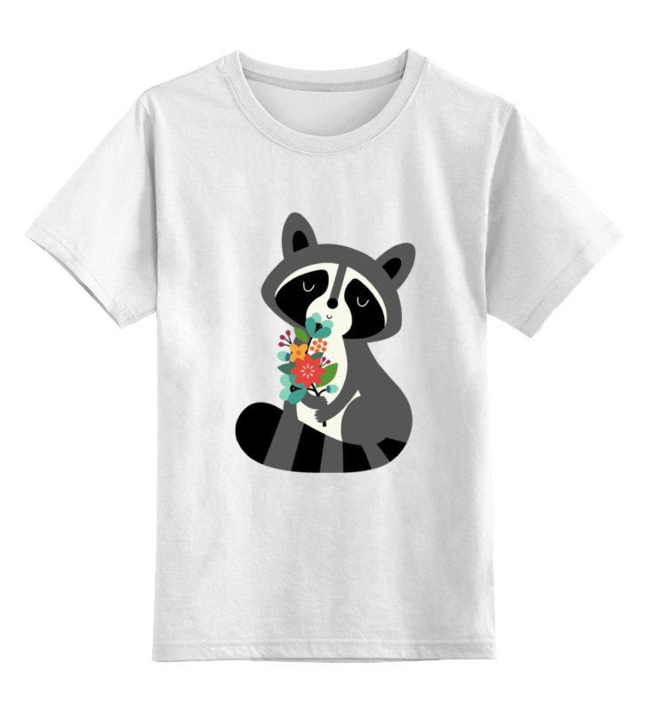 Детская футболка классическая унисекс Printio Милый енот детская футболка классическая унисекс printio мотоцикл