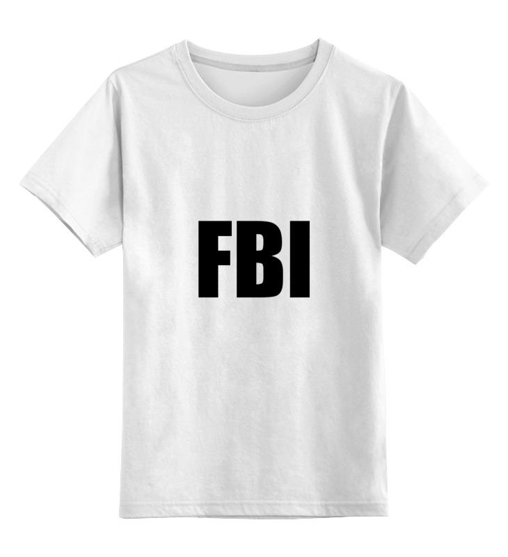 Детская футболка классическая унисекс Printio Fbi фбр футболка классическая printio fbi фбр