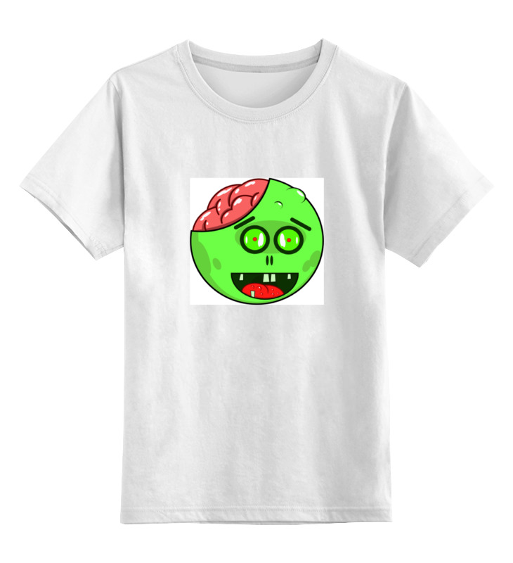 Детская футболка классическая унисекс Printio Зомби и мозги детская футболка классическая унисекс printio детская одежда