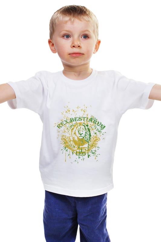 Детская футболка классическая унисекс Printio Лев - царь зверей детская футболка классическая унисекс printio лев