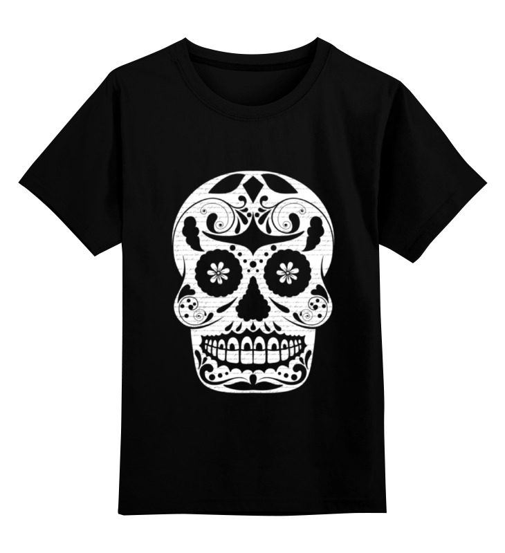 Детская футболка классическая унисекс Printio Цветочный череп детская футболка классическая унисекс printio череп мезенская роспись