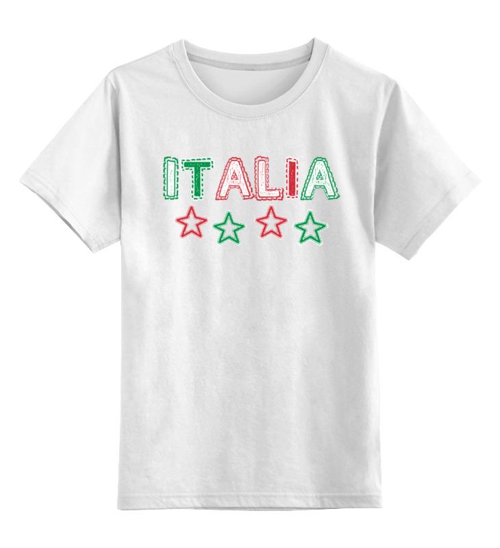 Детская футболка классическая унисекс Printio Италия