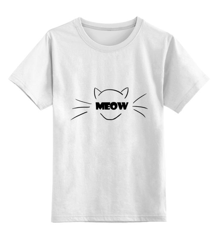 Детская футболка классическая унисекс Printio Кошка