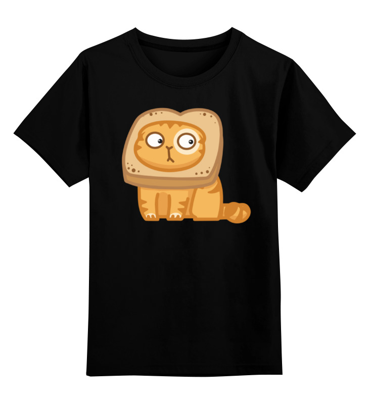 Детская футболка классическая унисекс Printio Кот персик / cat persik