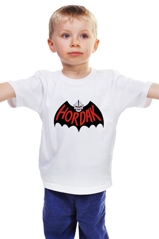 Детская футболка классическая унисекс Printio Hordak (masters of the universe) black and white stripe pattern t shirt