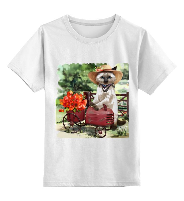 Детская футболка классическая унисекс Printio Цветочница тележки клининг с ведром