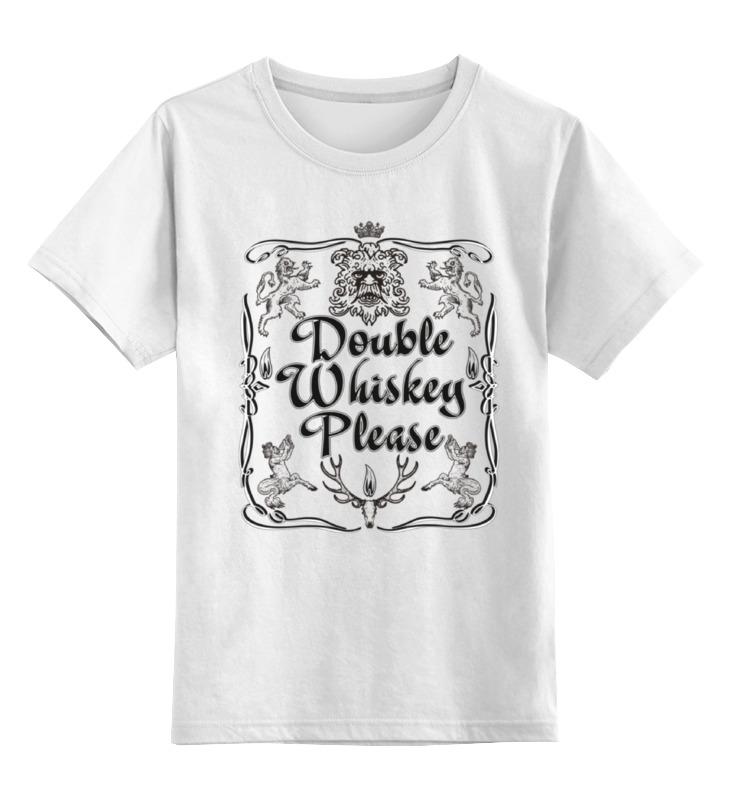 Детская футболка классическая унисекс Printio Двойной виски пожалуйста виски виски accounting side 50ml 50ml