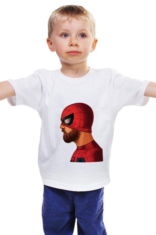 Детская футболка классическая унисекс Printio Бородатый человек паук marvel гирлянда детская на люверсах с днем рождения человек паук