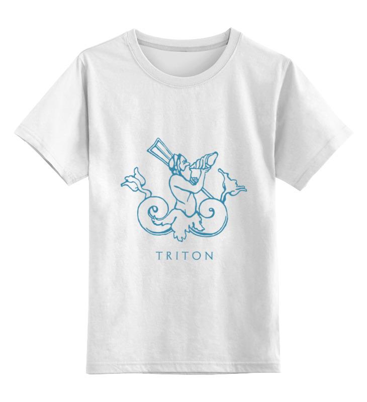 Детская футболка классическая унисекс Printio Тритон цена