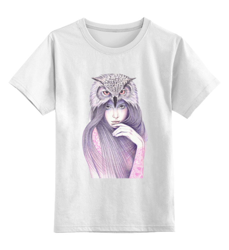 Детская футболка классическая унисекс Printio Девушка сова детская футболка классическая унисекс printio сексуальная девушка в молоке