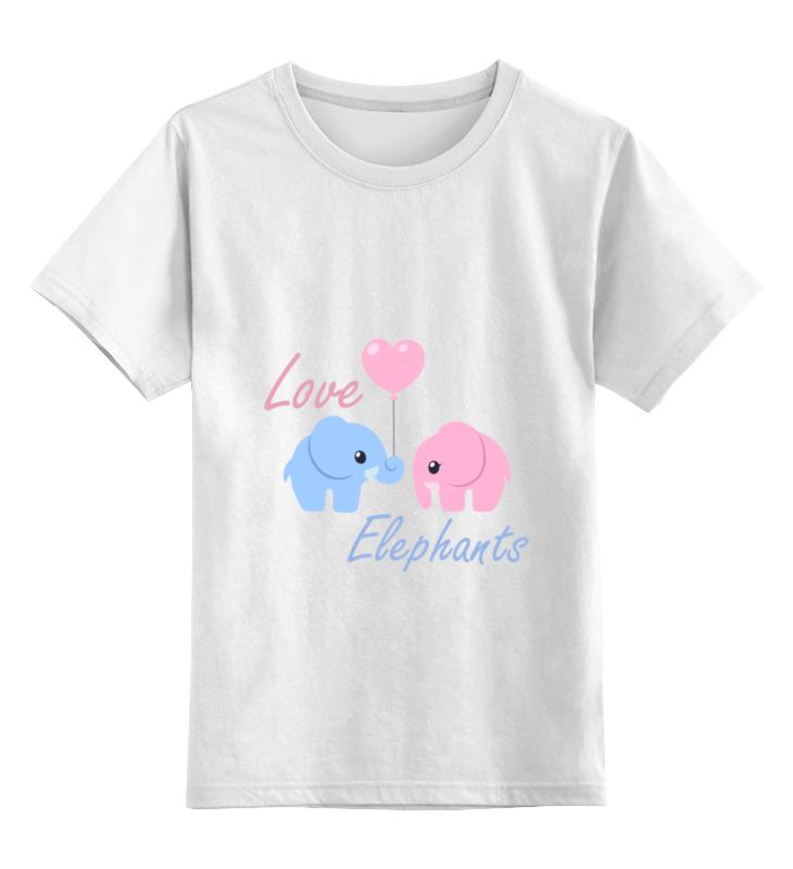 Детская футболка классическая унисекс Printio Love elephants майка классическая printio love elephants