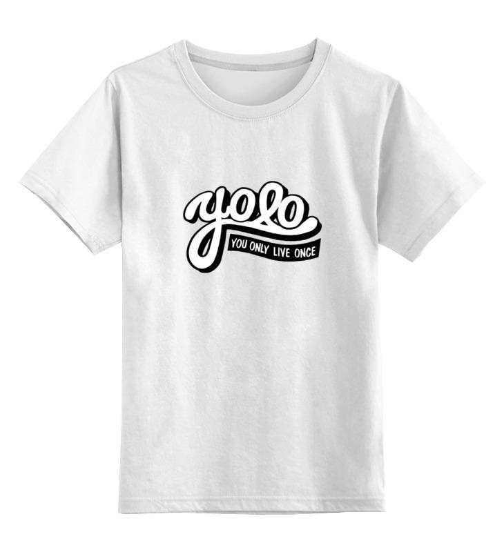 Детская футболка классическая унисекс Printio Yolo (you only live once) medellin once caldas
