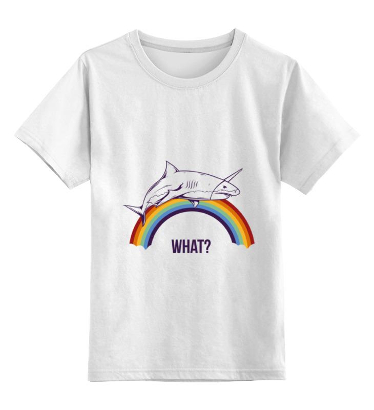Детская футболка классическая унисекс Printio What?