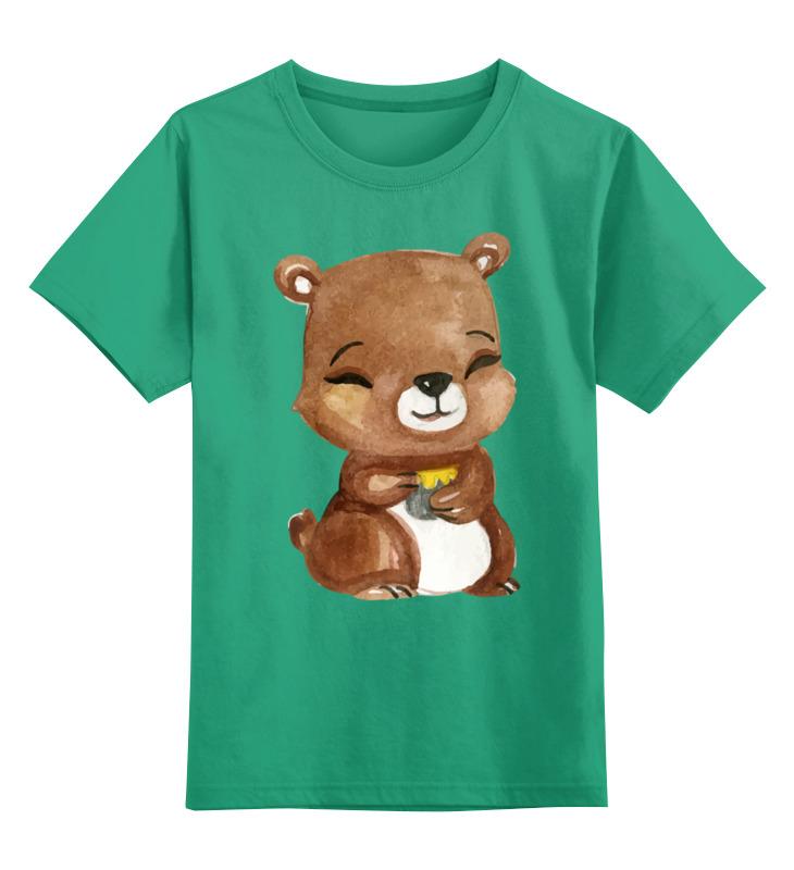 Детская футболка классическая унисекс Printio Медвежонок цена