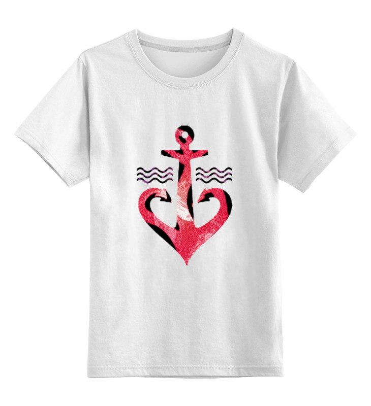 Детская футболка классическая унисекс Printio Красный якорь лонгслив printio красный якорь