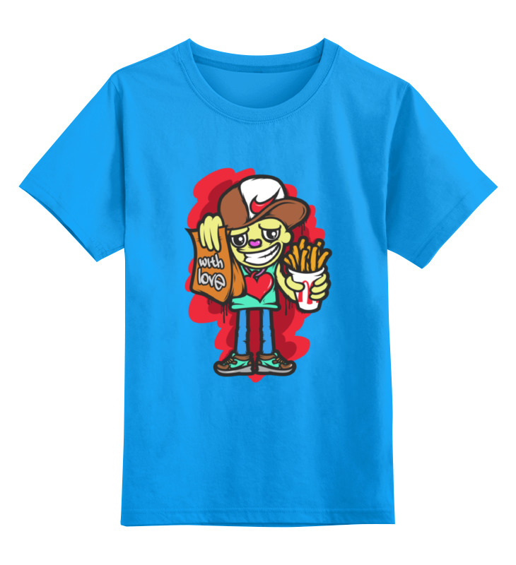 Детская футболка классическая унисекс Printio With love цена и фото