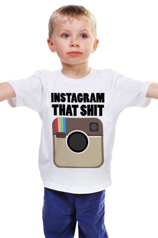 Детская футболка классическая унисекс Printio Instagram instagram socialmatic camera цена