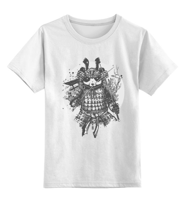 Детская футболка классическая унисекс Printio Самурай панда детская футболка классическая унисекс printio король панда