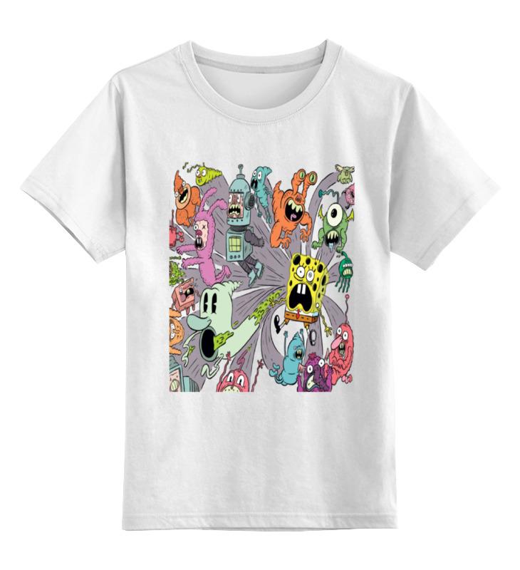 Детская футболка классическая унисекс Printio Монстры из спанч боба детская футболка классическая унисекс printio спанч боб