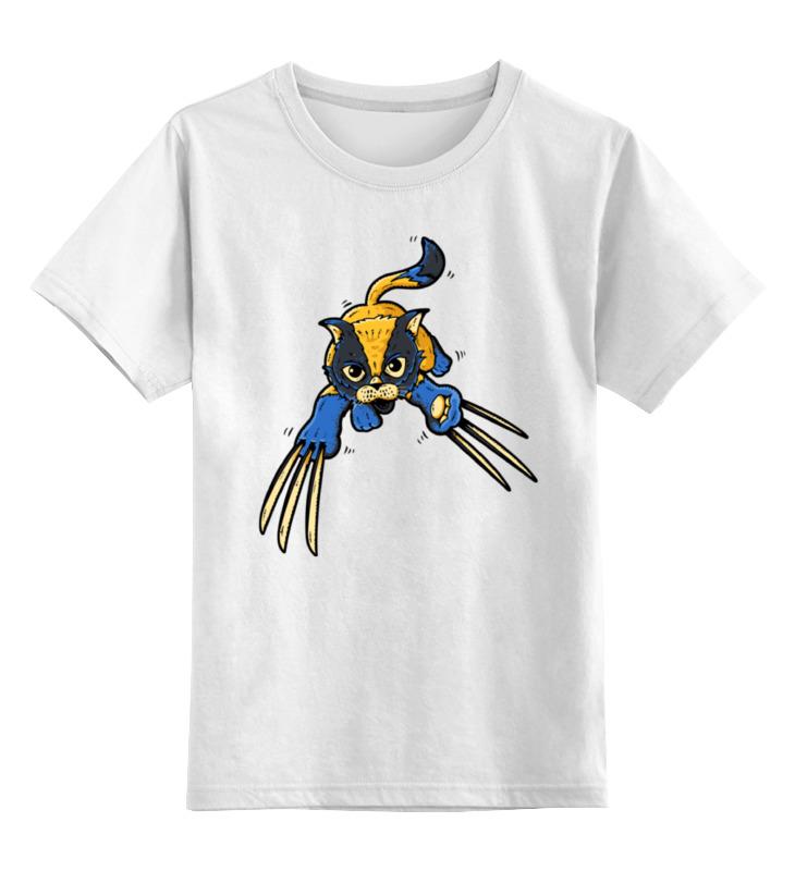 Детская футболка классическая унисекс Printio Росомаха кошка детская футболка классическая унисекс printio мачете