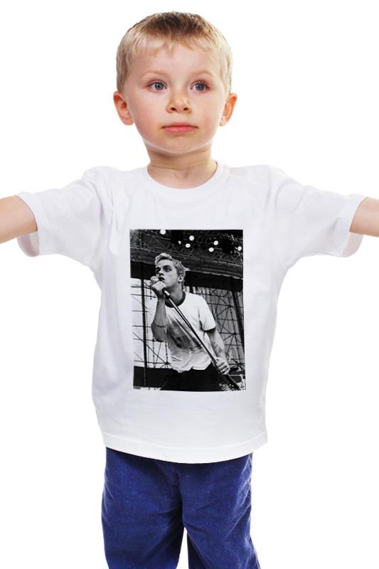 Детская футболка классическая унисекс Printio Билли джо армстронг green day retro