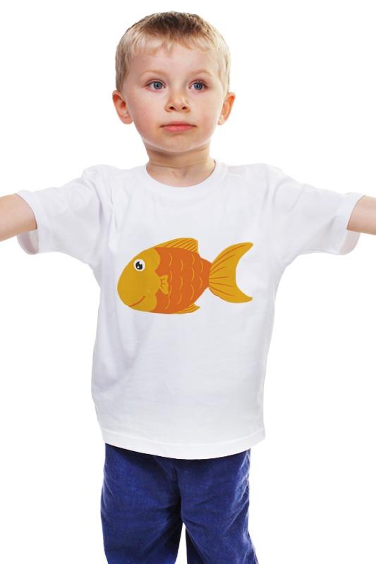 Детская футболка классическая унисекс Printio Золотая рыбка футболка рингер printio золотая рыбка