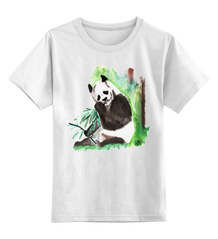 Детская футболка классическая унисекс Printio С пандой майка классическая printio с пандой