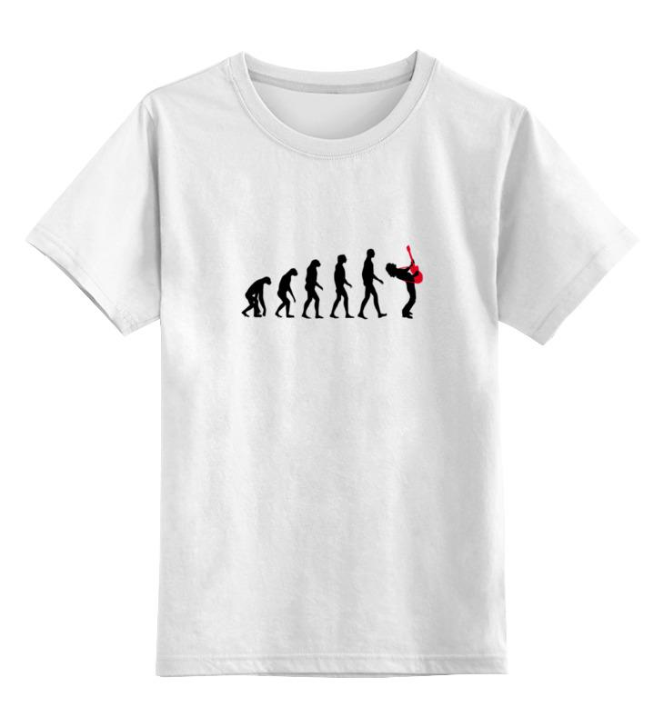 Детская футболка классическая унисекс Printio Эволюция рок-звезды