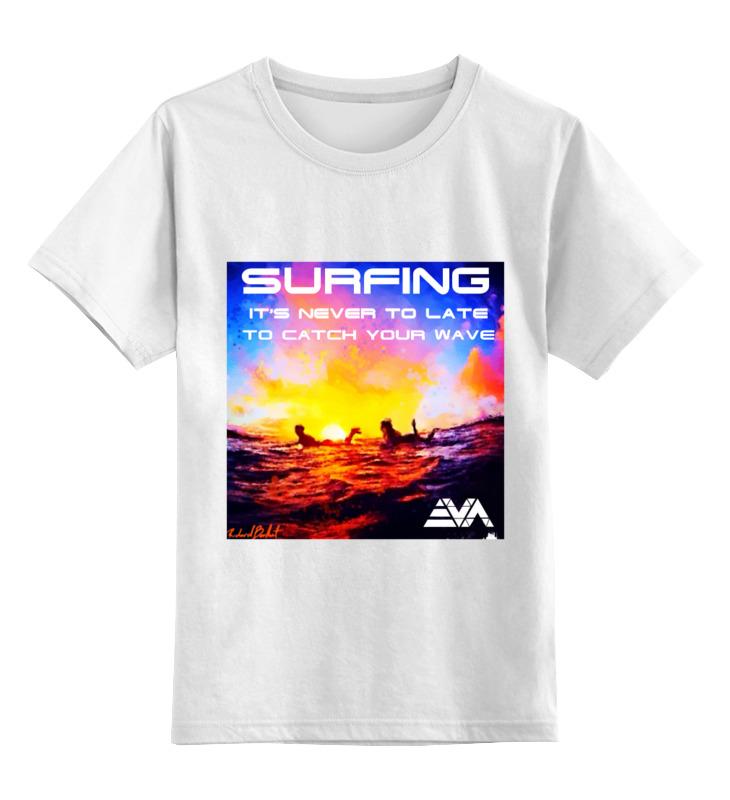 Детская футболка классическая унисекс Printio Серфинг на закате лонгслив printio серфинг на закате