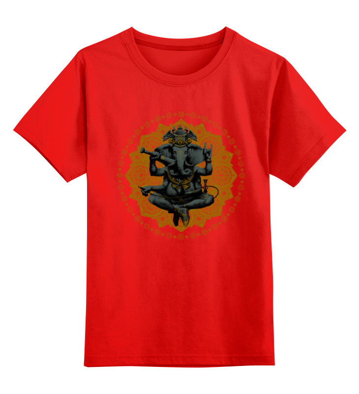 Детская футболка классическая унисекс Printio Ганеш фиалка цена и фото