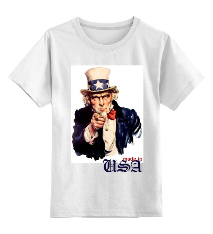 Детская футболка классическая унисекс Printio Америка футболка на заказ