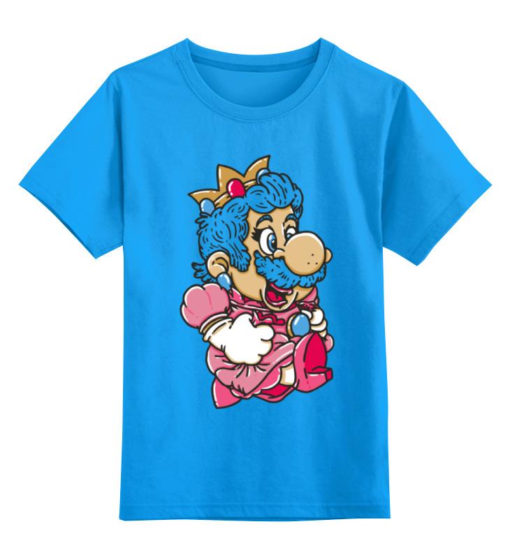 Детская футболка классическая унисекс Printio Mario (princess peach) super mario bros kart mario luigi princess peach toad donkey kong yoshi figures pull back cars pull back racers karts pvc toys