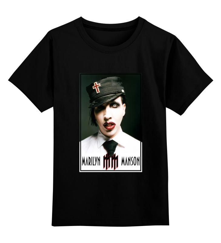 Детская футболка классическая унисекс Printio Marilyn manson детская футболка классическая унисекс printio детская одежда