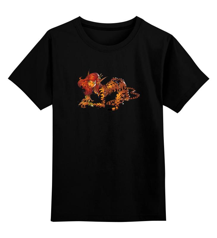 Детская футболка классическая унисекс Printio Девушка кошка детская футболка классическая унисекс printio девушка в париже