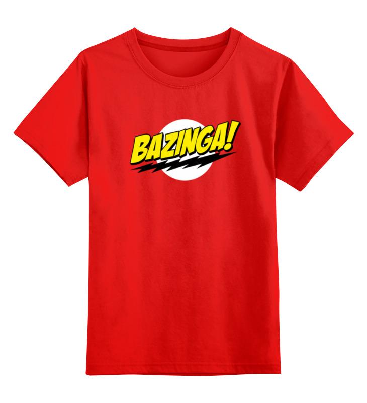 Детская футболка классическая унисекс Printio Шелдон купер - bazinga детская футболка классическая унисекс printio шелдон купер зеленые монстры