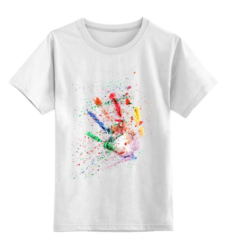 цена Детская футболка классическая унисекс Printio Emotion - жажда творить онлайн в 2017 году