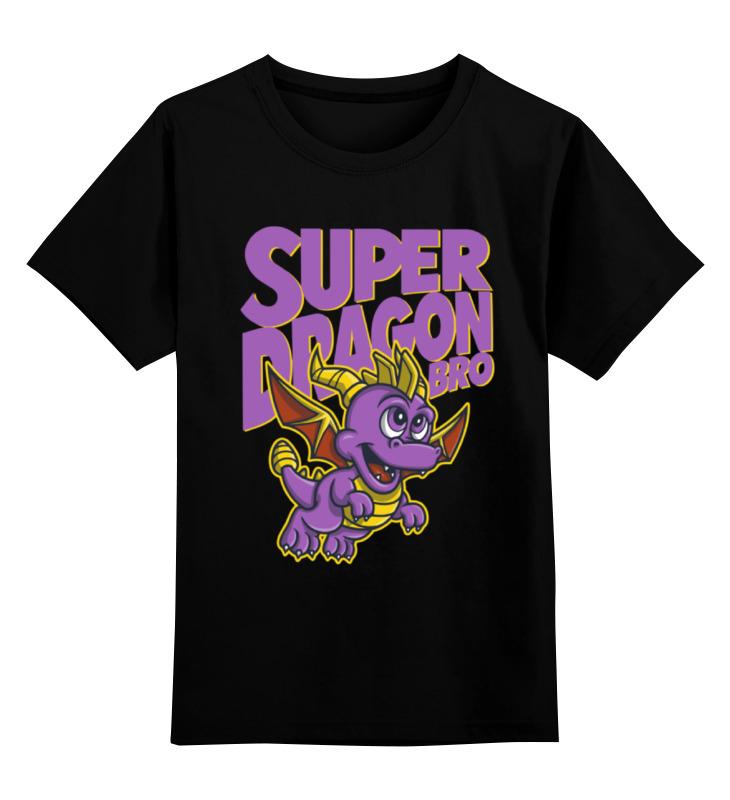 Детская футболка классическая унисекс Printio Дракон спайро