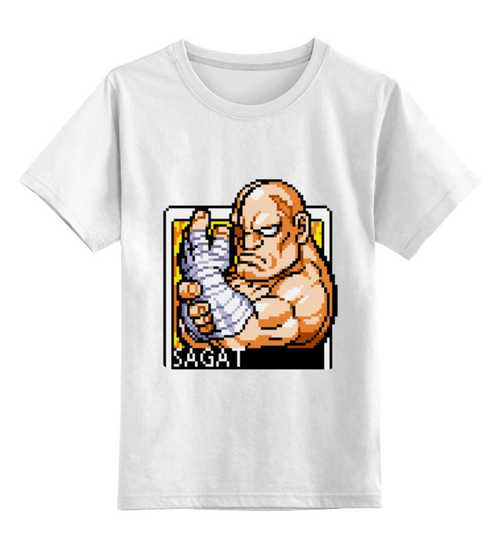 Детская футболка классическая унисекс Printio Street fighter sagat hoodie толстовка wearcraft premium унисекс printio street fighter sagat hoodie