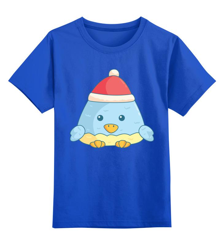 Детская футболка классическая унисекс Printio Пингвин (новый год) цена