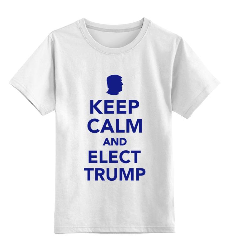 Детская футболка классическая унисекс Printio Elect trump цена и фото