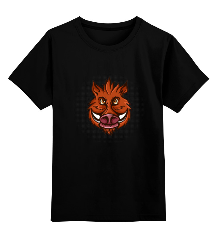 Детская футболка классическая унисекс Printio Кабанчик