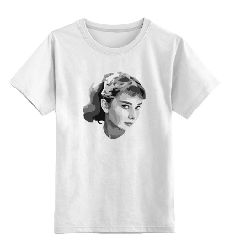 Детская футболка классическая унисекс Printio Одри хепбёрн vysotkahome кресло одри silver